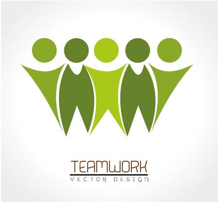teamwork design over white background vector illustration Illustration