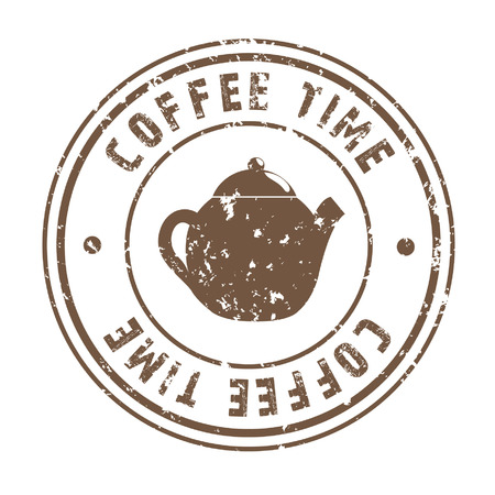 time over: coffee time over white background vector illustration