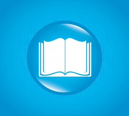 book bubble over blue background vector illustration  Stock Vector - 22262250