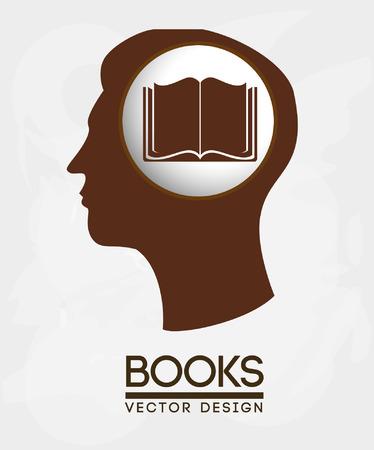 book design over white background vector illustration Stock Vector - 22262251