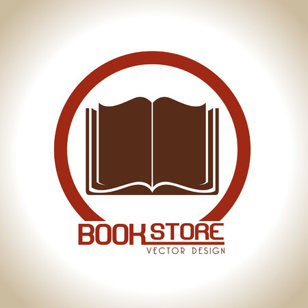 signifier: book store over beige background vector illustration
