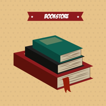 book store over dotted background vector illustration Stock Vector - 22266689