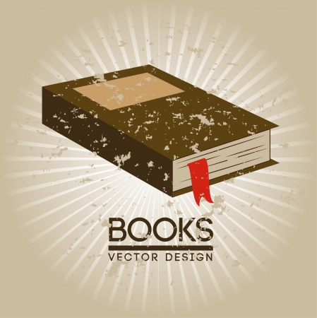 signifier: books design over beige background vector illustration