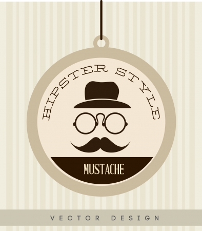 hipster design over lineal background vector  illustration   Vector