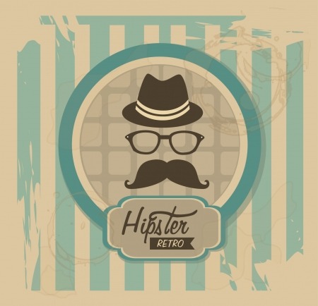 hipster design over vintage background vector  illustration   Vector
