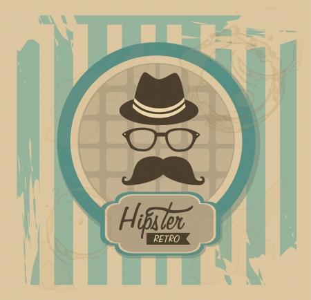 hipsters: hipster design over vintage background vector  illustration
