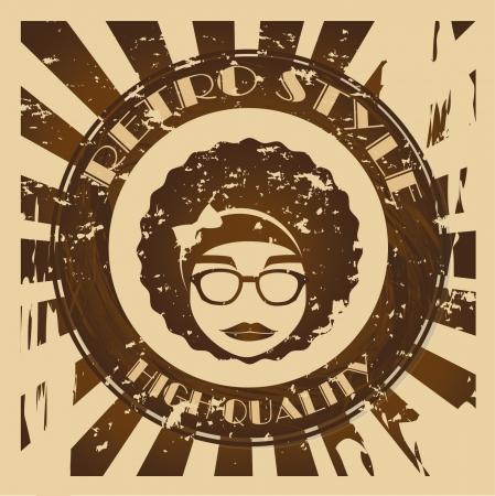 hippies design over grunge background vector illustration