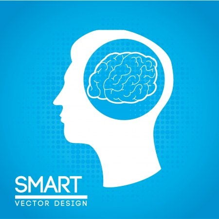 smart design over blue background vector illustration  Vector