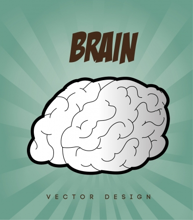 brain design over blue background vector illustration   Vector