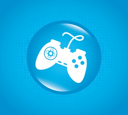 control game  over blue background vector illustration Stock Vector - 22266852