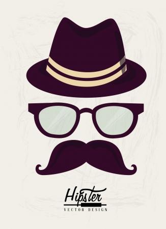 hipster design over white background vector  illustration   Vector