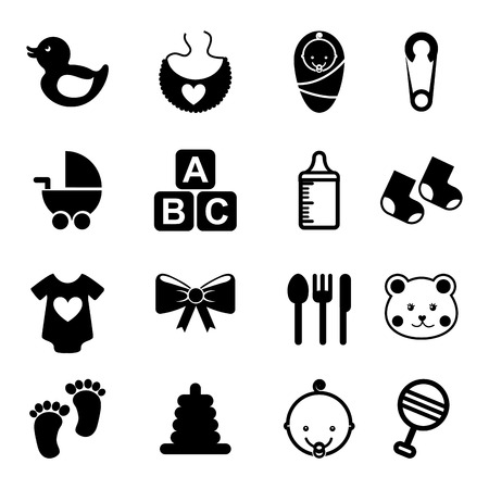 baby icons over white background vector illustration Vector