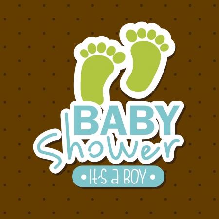 new: baby shower design over brown background vector illustration  Illustration