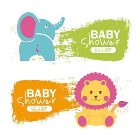 participacion: dise?o de la ducha del beb? sobre fondo blanco ilustraci?n vectorial