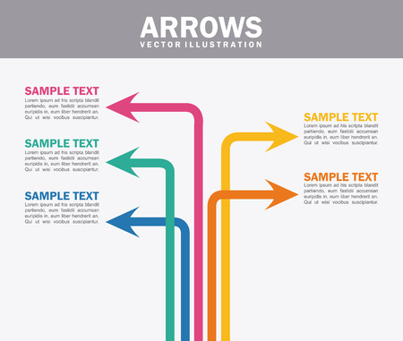 guides: arrows infographics  over white background vector illustration