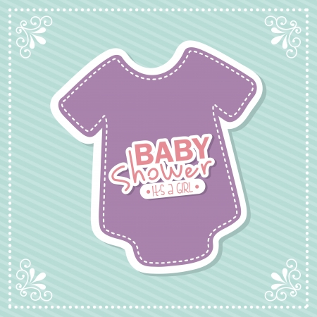 baby shower design over blue background vector illustration Vector