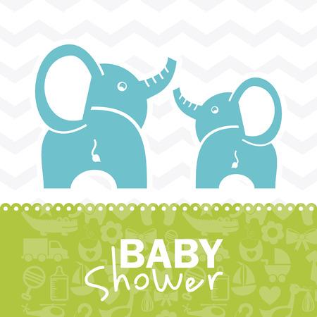 baby frame: baby shower design over white background vector illustration
