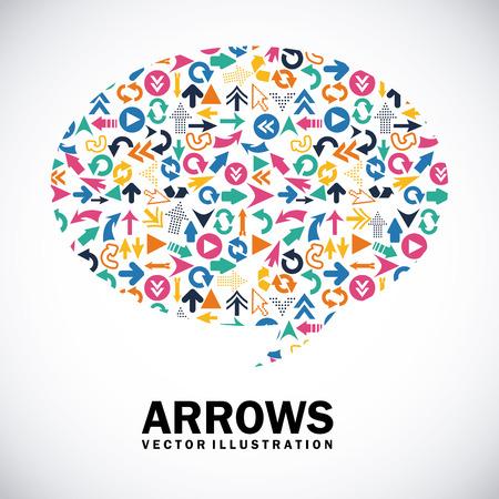 signal: arrows design over gray background vector illustration Illustration