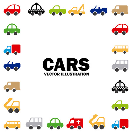cars design over white background vector illustration Stock Vector - 22311020