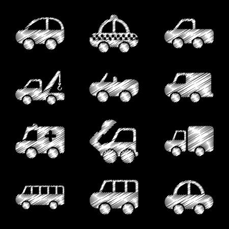 cars design over black background vector illustration Stock Vector - 22311024