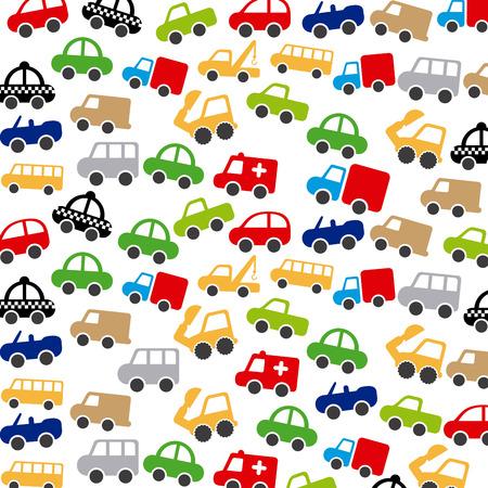coachwork: cars design over white background vector illustration Illustration