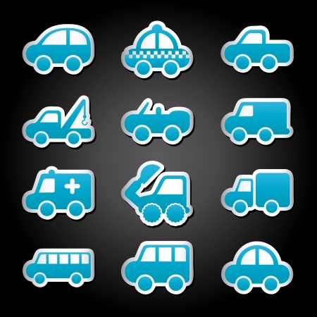 cars design over black background vector illustration Stock Vector - 22311038