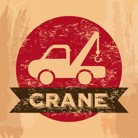 crane services over vintage background vector illustration  Stock Vector - 22311041