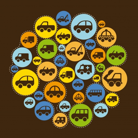 cars design over brown background vector illustration Stock Vector - 22311042