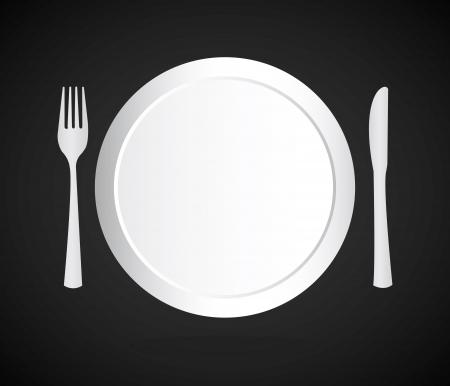 menu brochure over black background vector illustration   Vector
