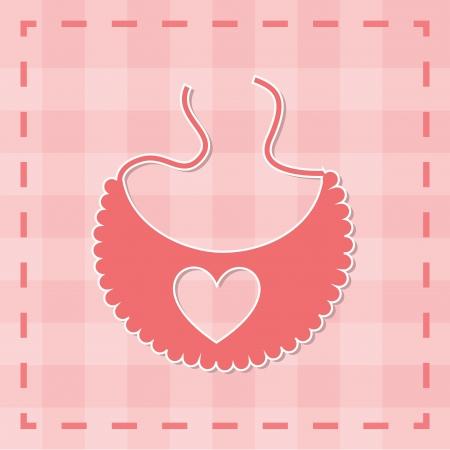 participacion: dise�o de la ducha del beb� sobre fondo de color rosa ilustraci�n vectorial