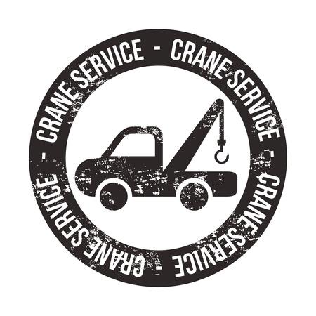 servicing: crane services over white background vector illustration   Illustration