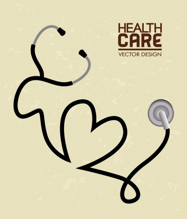health care  over cream background vector illustration  Vector