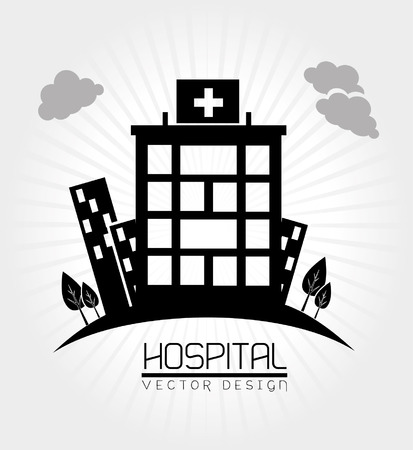 hospital design  over white background vector illustration  Иллюстрация