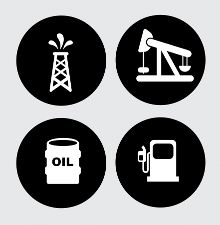 gas ball: fuel icons over gray background vector illustration  Illustration