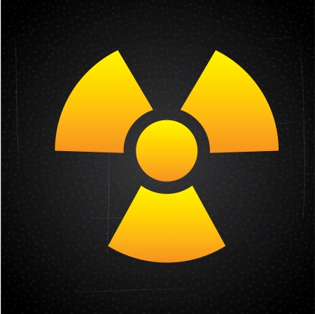 atomic signs over black background vector illustration   Stock Vector - 22325758