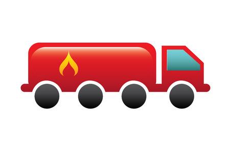 gas truck over white background vector illustration Stock Vector - 22325757