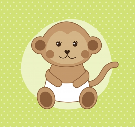 monkey design over dotted background vector illustration  Vector