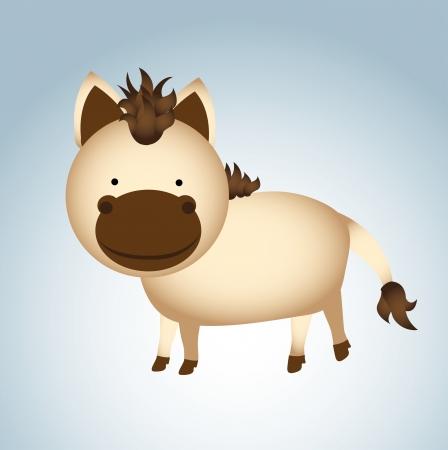 smyle: donkey design over blue background vector illustration