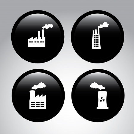 factory icons over gray background vector illustration Stock Vector - 22325953