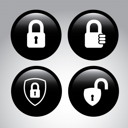 padlock isolated over gray background vector illustration Stock Vector - 22326255