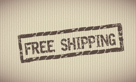 free shipping label over lineal background vector illustration  Vector