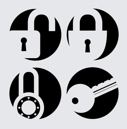 padlock isolated over blue background vector illustration Stock Vector - 22326603
