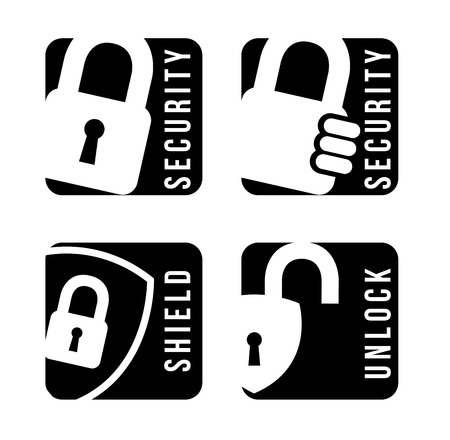 padlock isolated over white background vector illustration  Vector