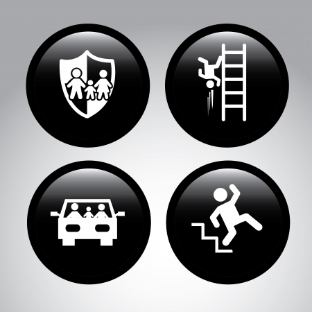 insurance icons over gray background vector illustration Stock Vector - 22326992