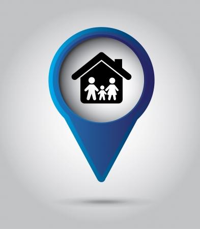 family insurance over gray background vector illustration Stock Vector - 22326994