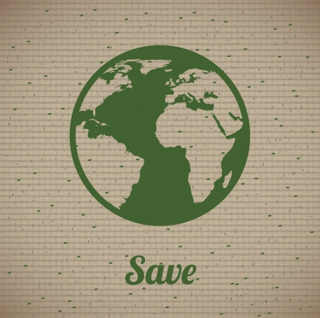 save the planet design over lineal background vector illustration Vector