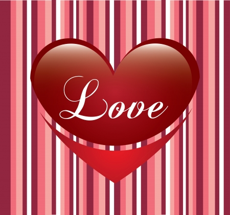 love heart over pink background vector illustration    Stock Vector - 22327158