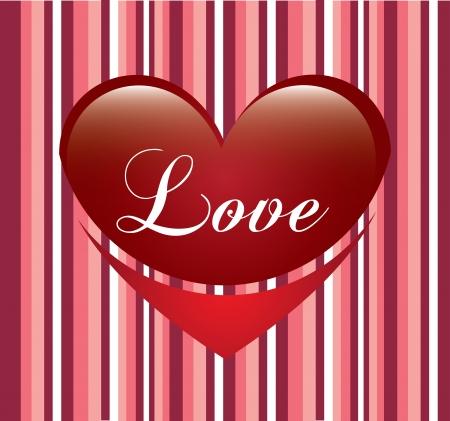love heart over pink background vector illustration Stock Vector - 22327158