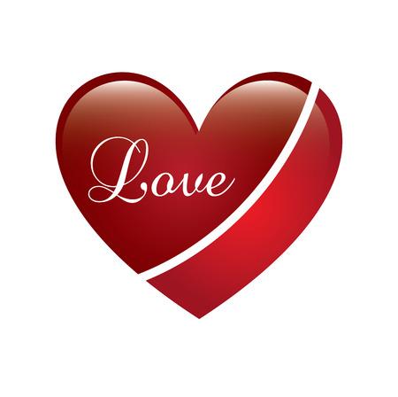 love heart over white background vector illustration    Stock Vector - 22327155