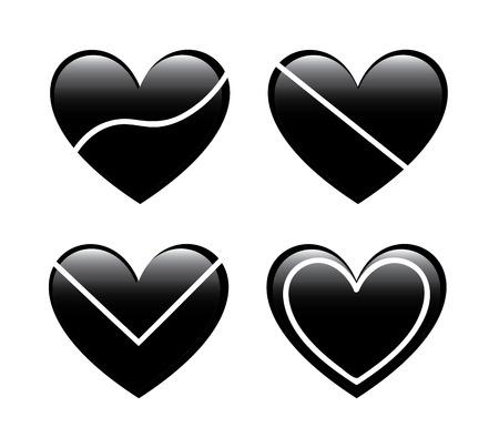 love heart over white background vector illustration    Stock Vector - 22327231